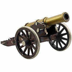 Canhão Marrom 30cm Estilo Retrô - Vintage