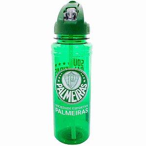 Garrafa De Plástico Com Canudo Retrátil 700ml - Palmeiras