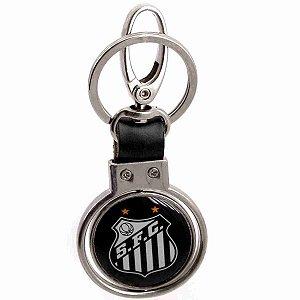 Chaveiro Com Enfeite De Metal - Santos