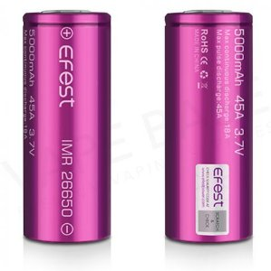 Bateria efest 26650 5000mha 45A