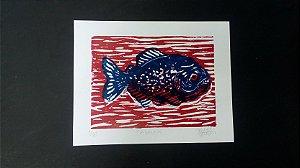 Xilogravura - Piranha