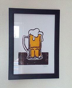 Xilogravura - Cerveja
