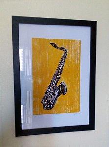 Xilogravura - Saxofone