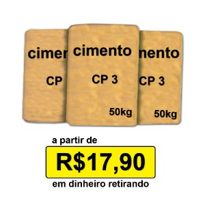 Cimento CP3 50kg promo