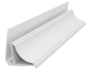 Moldura Rodaforro PVC Meia Cana Branca 6 Metros