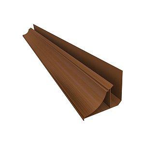 Moldura Rodaforro PVC U 6 metros madeira