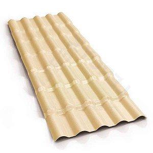 Telha colonial de PVC 4,59m Marfim