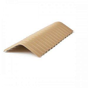 Cumeeira central em PVC marfim