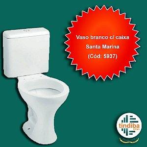 Vaso com caixa - Branco Santa Marina(cód: 5937)