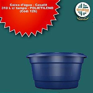 Caixa D'água Casalit 310L -Polietileno (Cód: 126)