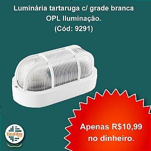 Luminária tartaruga com grade branca - OPL Iluminação