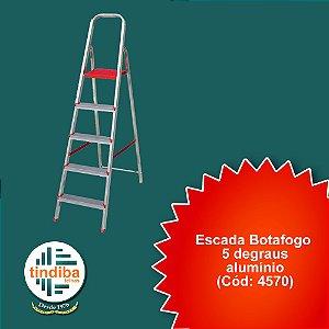 Escada botafogo 5 degraus - alumínio(Cód: 4570)