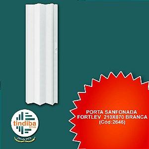 Porta sanfonada Fortlev 210x70cm branca (Cód:2646)