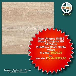 Piso Unigres Wood Cerejeira HD 54x54cm - 54585 - caixa c/ 2,65m² (Cód: 9525)