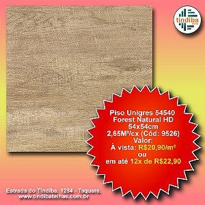Piso Unigres Forest Natural HD 54x54cm - 54540 - caixa c/ 2,65m² (Cód: 9526)