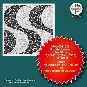 Piso Unigres Rio de Janeiro (54123) - 54x54cm - 2,65m²/Cx (Cód: 8958)