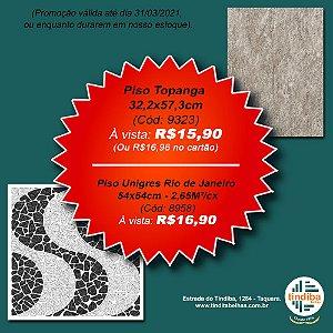 Piso Unigres Rio de Janeiro - 54x54cm - 2,65m²/Cx (Cód: 8958)