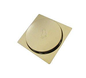 Ralo Inteligente Click Dourado 15x15cm - By Fineza