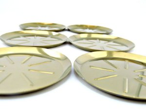 Conjunto com 6 Porta Copos Dourado - By Fineza