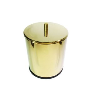 Lixeira Dourada em Aço Inox 3L para Banheiro – By Fineza