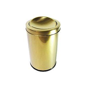 Lixeira Dourada 7,8L Basculante - By Fineza