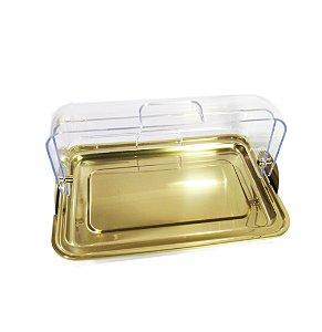 Porta-Pão Em Aço Inox Dourado - By Fineza