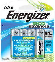 Pilha Energizar AA4 ECO Advanced 60% +