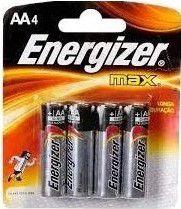 Pilha Energizer Max AA4 - Pq - Alcalina