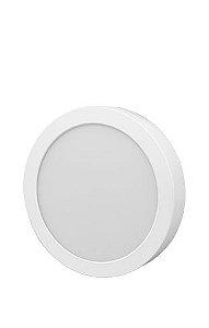 FLC - Luminária Led Sobrepor Redonda - 18W - 3000K - 1170Lm - 215 x 38mm