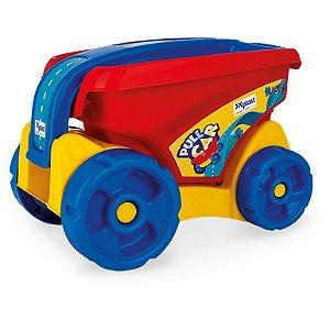 Pull Car Carrinho Mão Infantil Com Blocos De Montar Xplast