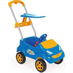 Carrinho Passeio Bebe Baby Car Azul Com Acessórios Xplast