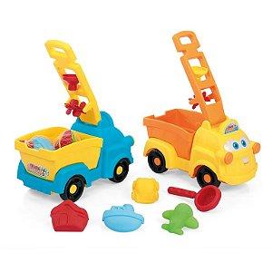 Caminhão Infantil Bebê Com Acessórios Truck Beach Xplast