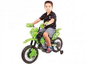 Moto Elétrica Motocross Verde - Xplast