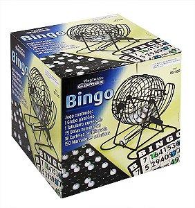 Bogo de Bingo com 75 Números e 18 Cartelas Reutilizáveis Western