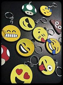 Chaveiro Emborrachado Emoji Emoticons 110 Peças