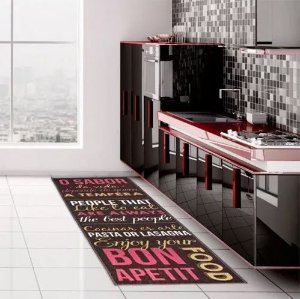 Passadeira Cozinha Antiderrapante 160x50 Food Kapazi