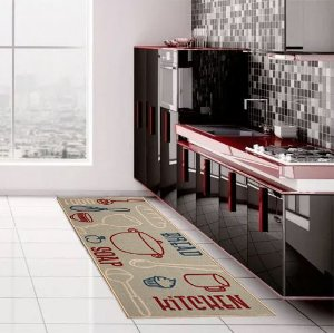 Passadeira Cozinha Antiderrapante 120x50 Bread Kapazi
