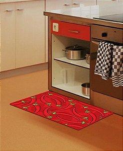 TAPETE Cozinha Antiderrapante 70X50 Pimentas