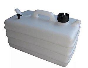 Peças e acessórios Lanchas Focker - Tanque de Combustível p/ Embarcações s/ Pescador - Vertical Branco - 25 litros