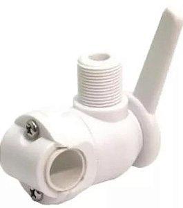 Peças e acessórios Lanchas Focker - Suporte Para Antena VHF em Guarda Mancebo - Nylon - Branco