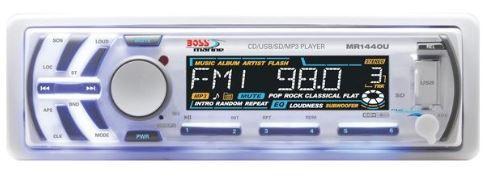 Peças e acessórios Lanchas Focker - CD/MP3 Player Marinizado Boss Marine - MR1440U