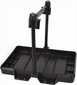 Peças e Acessórios Lancha Focker - Bandeja Plástica p/ Banco de Bateria c/ Alça de Segurança - 1 Bateria Pequena