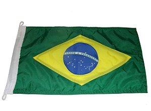Peças e Acessórios Lancha Focker - Bandeira do Brasil Dupla Face p/ Embarcações 40x25cm 1 un.