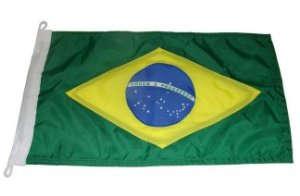 Peças e Acessórios Lancha Focker - Bandeira do Brasil Dupla Face p/ Embarcações 65x45cm 1 un.