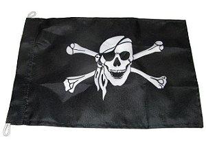Peças e Acessórios Lancha Focker - Bandeira de Pirata Dupla Face p/ Embarcações 40x24cm 1 un.