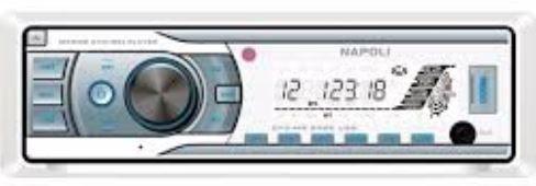 Peças e Acessórios Focker - Cd Mp3 Dvd Player e Usb Marinizado Napoli MR8388
