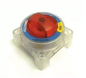Peças e acessórios Lanchas Focker - Chave comutadora de baterias liga/desliga dupla com opção combinar baterias