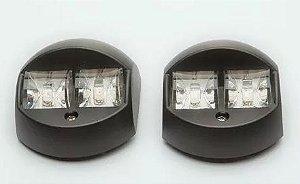 Peças e acessórios Lancha Focker - Par de lanterna de Navegação 02 Leds de alta intensidade (Preto, branco)