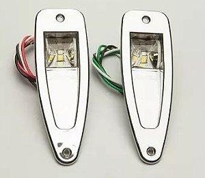 Peças e acessórios Lancha Focker - Luzes de bordo Olho de tubarào à LED 0,05A 12V (Cromado) 1 un.