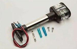 Peças e acessórios Lanchas Focker - Luz de ancoragem Tricolor Retangular à 06 LEDs 20cm (Preto) 1 un.